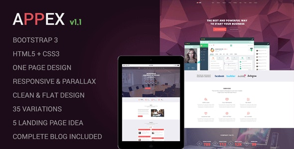 AppEx - Responsive Multi-Purpose Apps Landing Page - Technology Landing Pages
