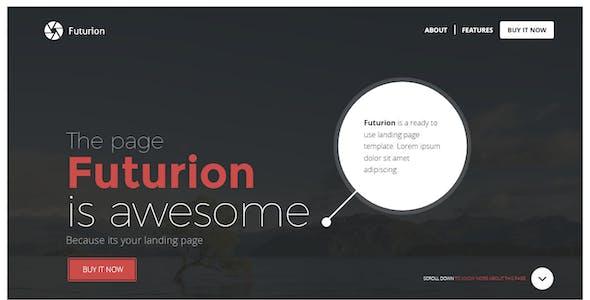 Futurion - Beautiful Landing page template
