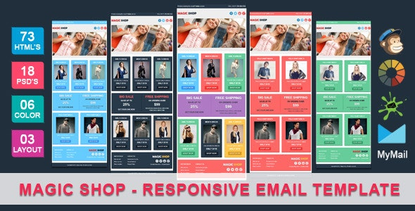 Magic Shop - Responsive Ecommerce Email Template - Newsletters Email Templates