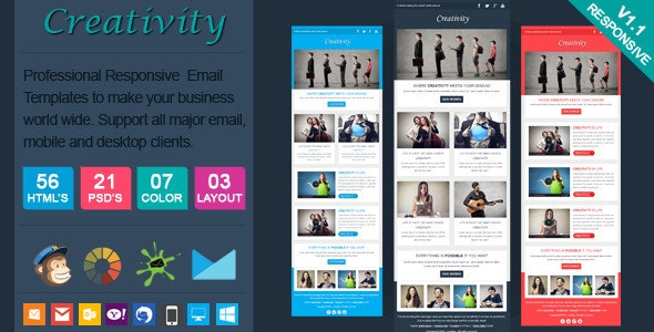Creativity - Clean Responsive Email Template - Newsletters Email Templates