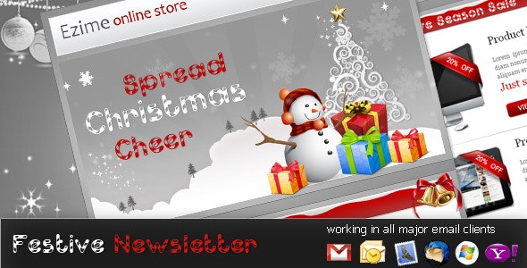 Festive - NewsLetter Template - Newsletters Email Templates