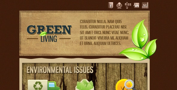 Green Environment HTML Email Template (3 Themes) - Newsletters Email Templates