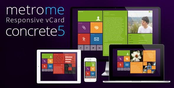 metroMe - Concrete5 Responsive vCard Theme - Personal Blog / Magazine