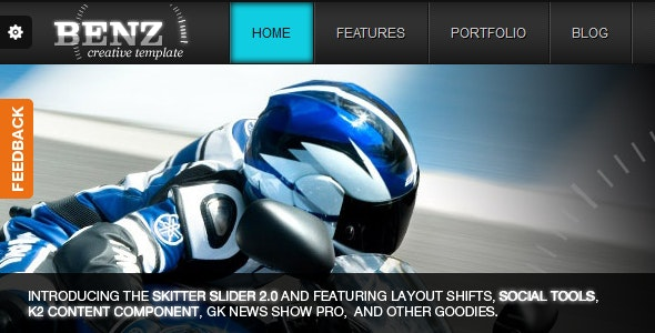 Benz Creative Template For Joomla! - Creative Joomla