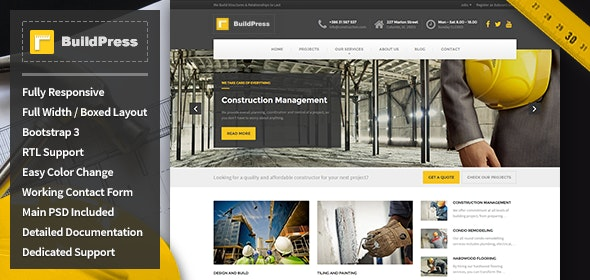 BuildPress - Construction Business HTML Template - Business Corporate