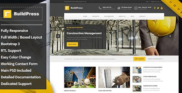 BuildPress - Construction Business HTML Template