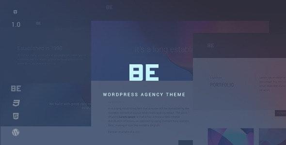 Be - Responsive Agency WordPress Theme - Creative WordPress