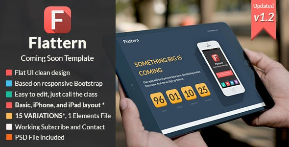 Flattern - Responsive Coming Soon Template