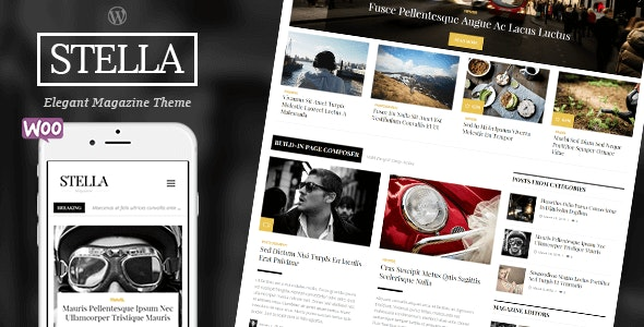 STELLA - Clean Blog/News/Magazine Responsive Theme - News / Editorial Blog / Magazine