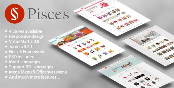 Pisces - Multipurpose Joomla & VirtueMart Template - VirtueMart Joomla