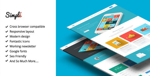Simple - Responsive Landing Page Template - Apps Technology