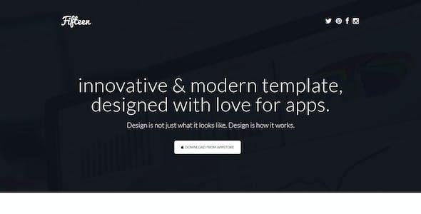 Fifteen - Responsive Landing Page Template