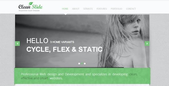 Clean Slide Responsive HTML Template / Vcard