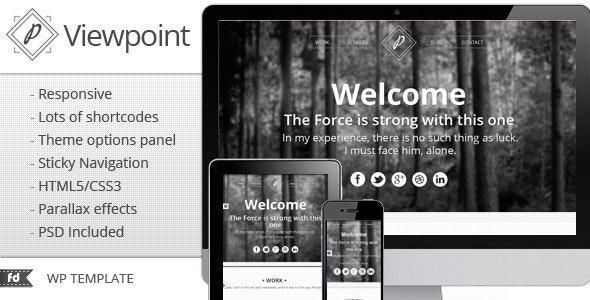 Viewpoint - Responsive single page portfolio - Portfolio Creative