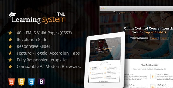 Learning Management System A Premium HTML Template - Corporate Site Templates