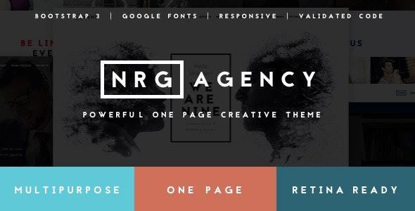 NRGagency - Creative One-Page Agency Theme - Portfolio Creative