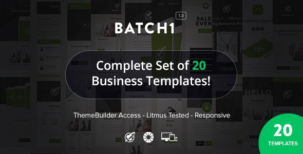 Batch1 - Complete Set of 20 Business Email Templates - Newsletters Email Templates