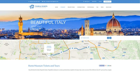 Tours & Tickets - Creative PSD Template