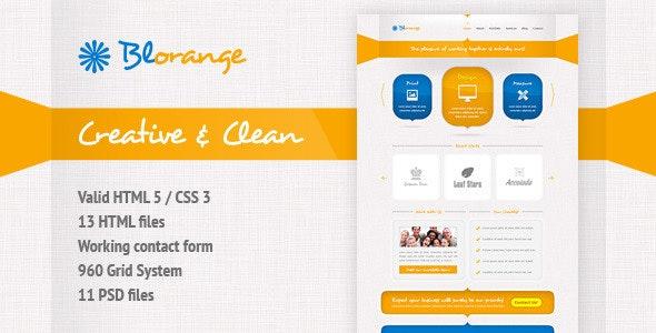 Blorange Multipurpose Creative Site Template - Creative Site Templates