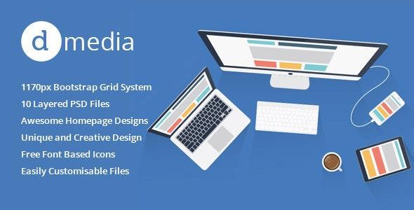 dMedia - Multi Purpose HTML5 Creative Template - Portfolio Creative