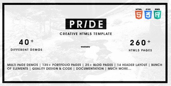 Pride - Multipurpose HTML5 Template - Portfolio Creative
