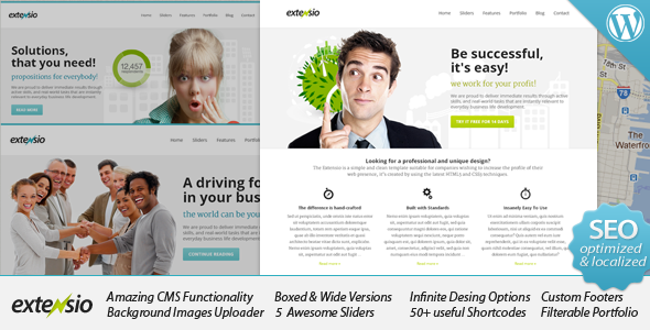 Extensio - Elegant and Minimal Business WordPress - Business Corporate