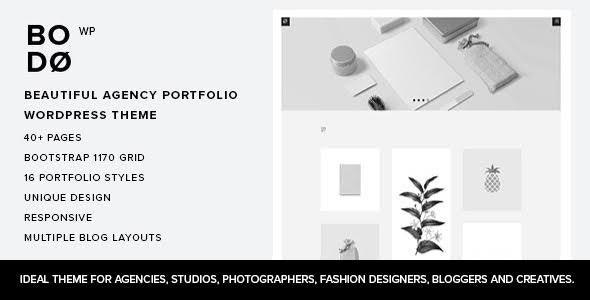 Bodo - Agency Portfolio WordPress Theme - Portfolio Creative