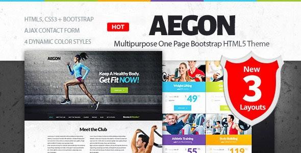 Aegon - Responsive Gym/Fitness Club Template - Health & Beauty Retail