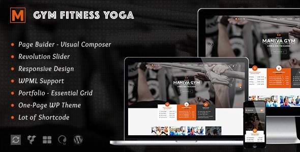 Gym Fitness Yoga - Maniva WordPress Theme - Health & Beauty Retail