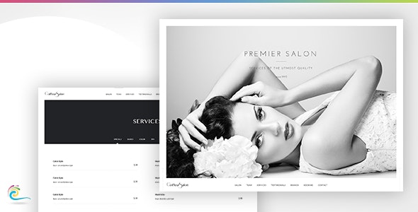 Coiffeur Salon - Classy and Elegant Retail Template (HTML) - Retail Site Templates