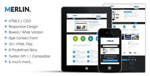 Merlin - Responsive HTML5 Template