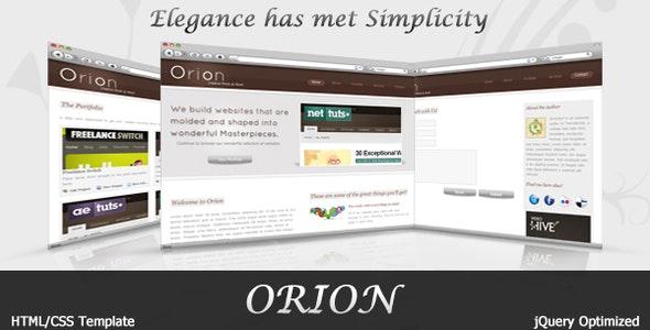 Orion | Elegant portfolio Template - Portfolio Creative