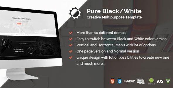Pure Black/White - Creative Multipurpose Template