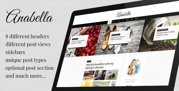ANABELLA - Personal Blog/News WordPress Theme - Blog / Magazine WordPress