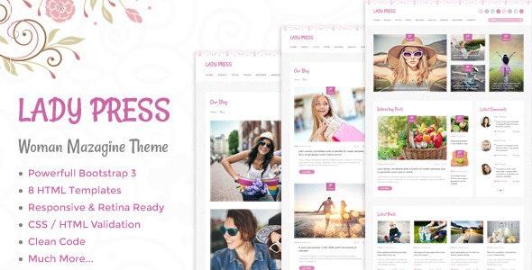 LadyPress - Woman Magazine Blog HTML Template - Creative Site Templates
