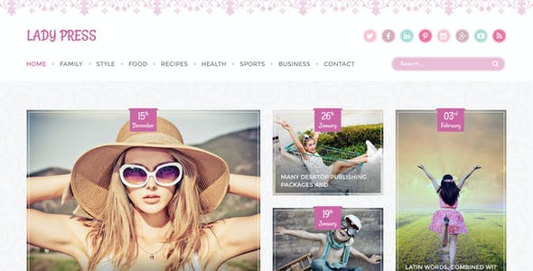 LadyPress - Woman Magazine Blog HTML Template