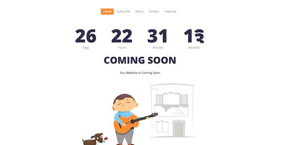 UkieBoy - Responsive Animated Coming Soon Template