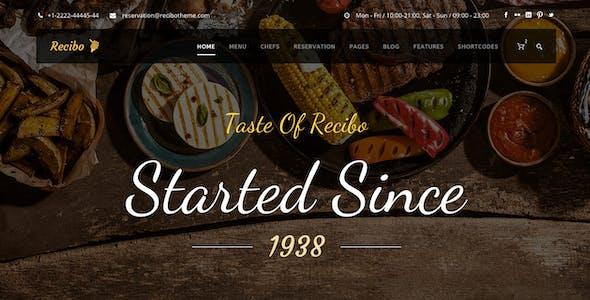 Recibo - Restaurant WordPress