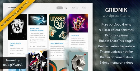 Gridnik - Elite Portfolio Wordpress Theme - Creative WordPress