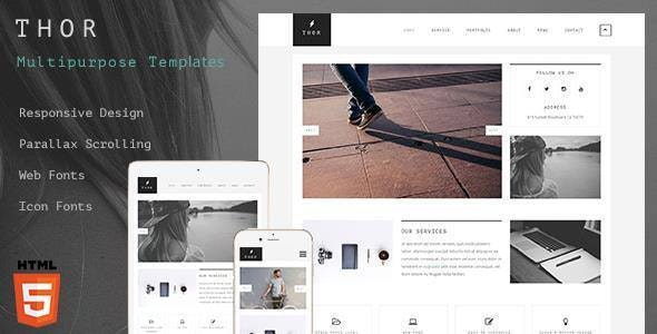 Thor - Creative portfolio HTML5 Website Template - Creative Site Templates