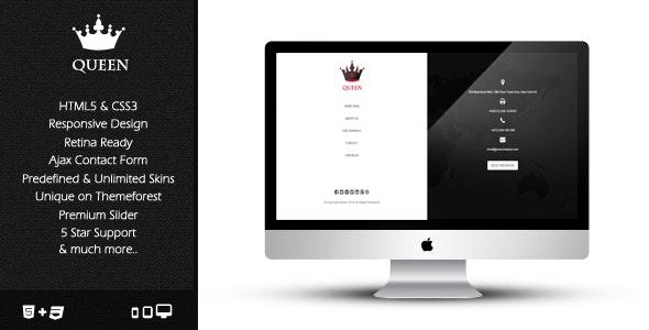 Queen - Responsive & Retina Ready Template - Creative Site Templates
