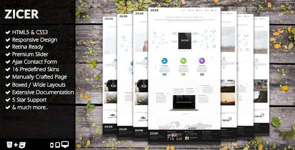 Zicer - Responsive Retina HTML5/CSS3 Template