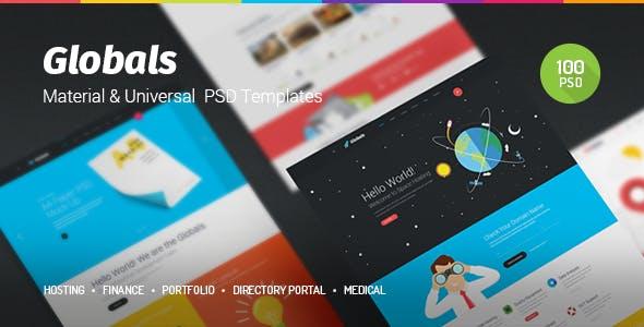 Globals - Material & Universal PSD Template