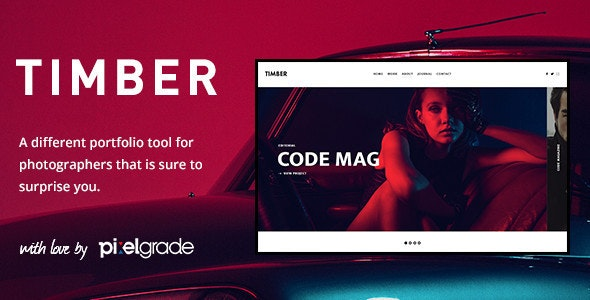 TIMBER – An Unusual Photography WordPress Theme - Photography Creative