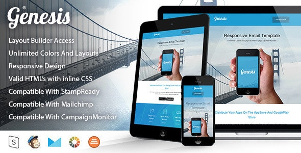 Genesis | Responsive Multi-Purpose Email Template - Newsletters Email Templates