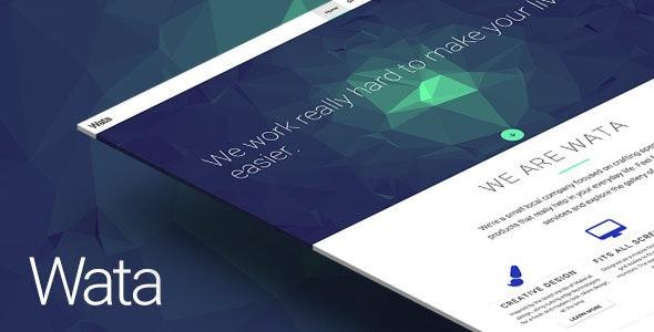 Wata — Material Design Multipurpose Template - Creative Site Templates