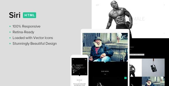 Siri - Multi-Purpose Responsive Retina HTML5 CSS3 - Creative Site Templates