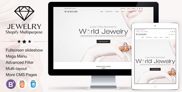 Jewelry Responsive Shopify Theme - Health & Beauty Shopify