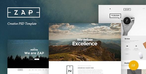 ZAP - Creative PSD Template - Creative Photoshop