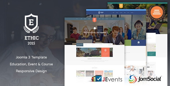 Education, Event and Course - ETHIC Template - Corporate Joomla